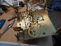 Quelques réparations de la semaine (pendule 18è, tableau horloge et religieuse)